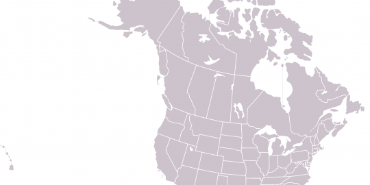 U.S. and Canada map